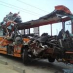 Metro-bus accident with head on collision resulting in multiple fatalities. Ghanaweb/2015
