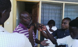Dr. Ankamah with the press educating the public about diseases prevention and living longer
