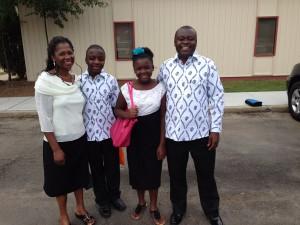 Dr. Ankamah and family