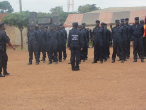 Town security police inspection