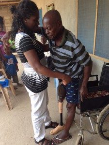 Alfred  learning  to  walk  again  with  his  new  leg  Thanks  to  swiss  orthopedics  USA