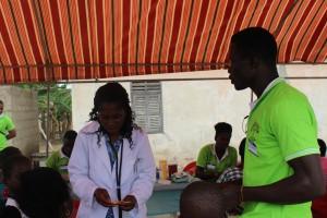Mrs.Margaret Ankamah saving lives