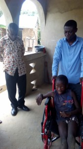 Syvester Can now go to school receiving God's blessings from Rev Owusu Afriyie