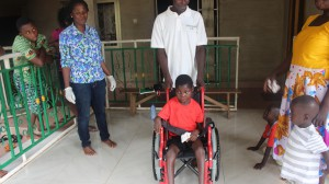 Thanks to wheelchair foundation now she can cruise