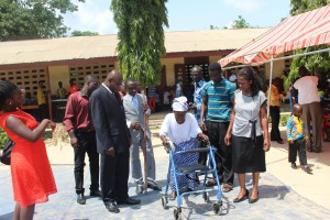 2015 Africa Medical Missions With her walker, no more cane taller than her.