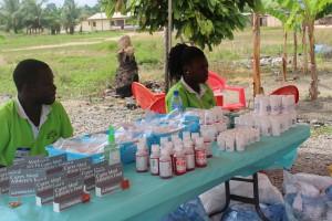 Abena Ankamah and Richard Pharmacy assistants.