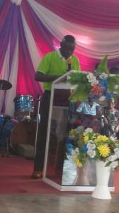 Evangelist Dr.Ankamah Preaching God's word.